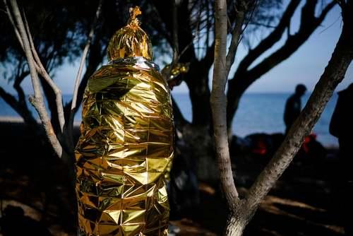 پناهجویان تازه رسیده به جزیره