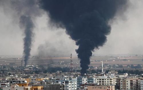حمله ترکیه به شهر مرزی