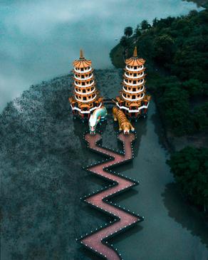 پاگودای ببر و اژدها، تایوان
