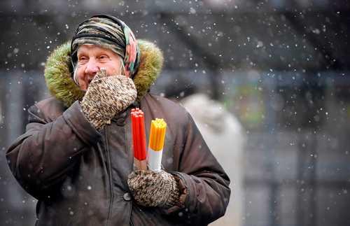 بارش نخستین برف پاییزی در مسکو/ خبرگزاری فرانسه