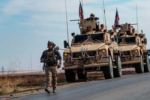 واحدهای نظامی آمریکا در مرز سوریه و ترکیه/ خبرگزاری فرانسه