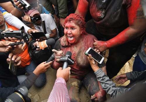 حمله معترضان بولیویایی به شهردار شهر