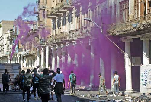 ادامه اعتراضات در شهر بغداد عراق/ خبرگزاری فرانسه