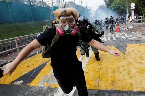 تظاهرات دانشجویی بر ضد چین در هنگ کنگ/ رویترز