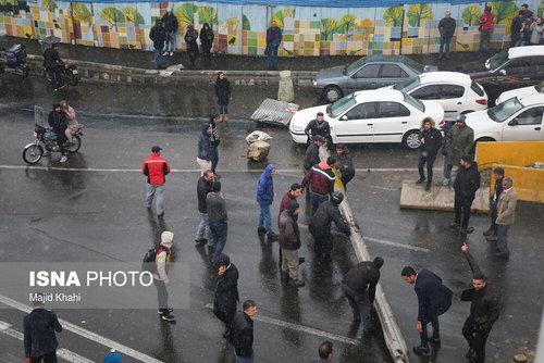 اعتراضات امروز تهران (اتوبان چمران )در پی گرانی و سهمیهبندی بنزین
