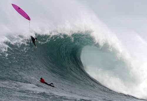 موج سواری در سواحل اسپانیا/EPA