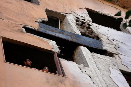 ساختمان آسیب دیده از حمله هوایی بامداد چهارشنبه اسراییل به حومه شهر دمشق سوریه/ رویترز