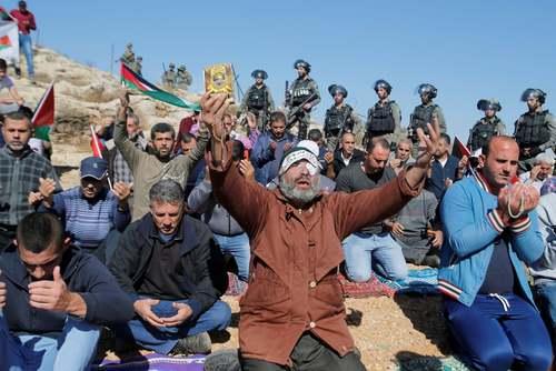 اعتراضات فلسطینیها علیه شهرک سازیهای غیرقانونی اسراییل در اراضی اشغالی در کرانه باختری/ رویترز