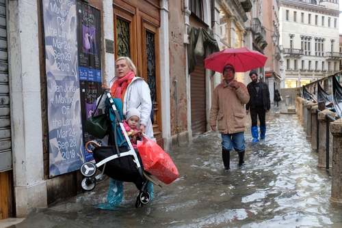 سیل در شهر ونیز ایتالیا/ رویترز