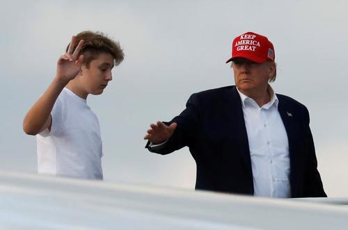 ترامپ و پسرش