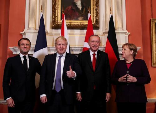 نشست چهارجانبه رهبران ترکیه، بریتانیا، آلمان و فرانسه درباره سوریه در حاشیه نشست سران ناتو در لندن/ رویترز