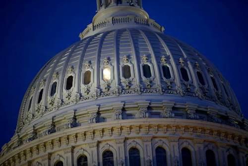 چراغ روشن سالن استیضاح ترامپ در کمیته قضایی مجلس نمایندگان آمریکا در ساختمان کنگره در واشنگتن/ آسوشیتدپرس