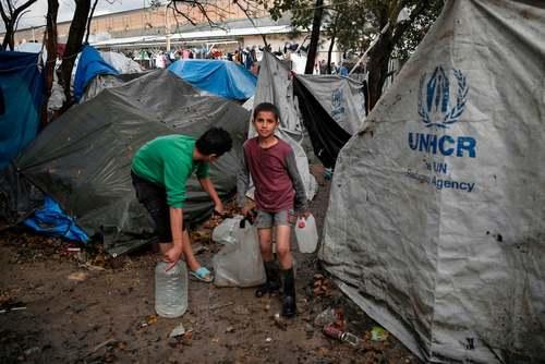 اردوگاه پناهجویان در یونان/ خبرگزاری فرانسه