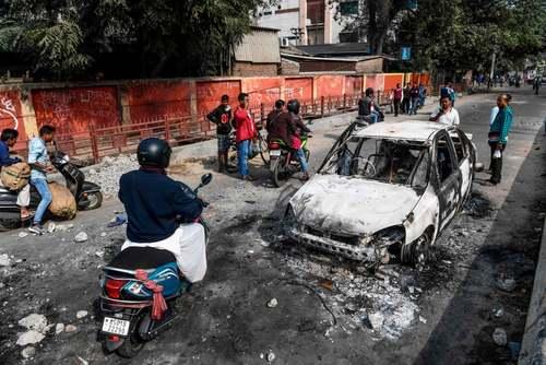 بقایای اعتراضات خشونت بار به قانون جدید