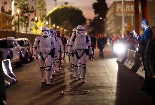 مراسم نمایش فیلم جدید جنگ ستارگان در هالیوود شهر