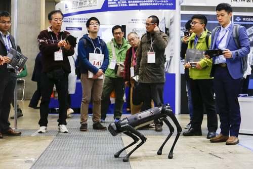 یک روبات سگ در جشنواره بینالمللی روبات در شهر توکیو ژاپن/ گاردین