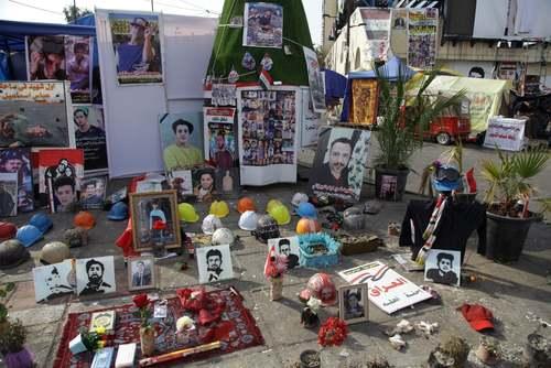 تصاویر کشته شدگان اعتراضات عراق در میدان تحریر بغداد/ آسوشیتدپرس