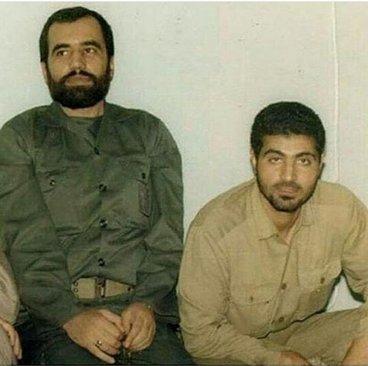 جوانی سردار سلیمانی در کنار شهید علی هاشمی