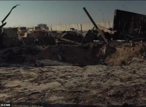 آثار حملات موشکی سپاه به پایگاه عین الاسد/ سی ان ان