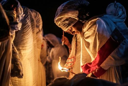 مراسم آیینی مسیحیان اتیوپی/ خبرگزاری فرانسه