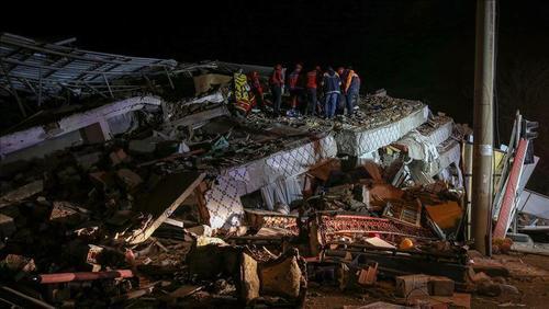 زلزله ترکیه در استان الازیغ - خبرگزاری آناتولی ترکیه
