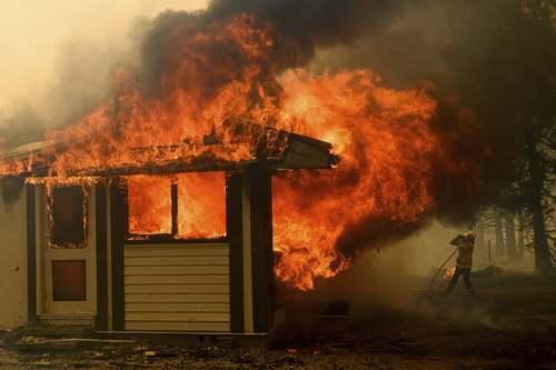 آتش سوزی جنگلی در ایالت