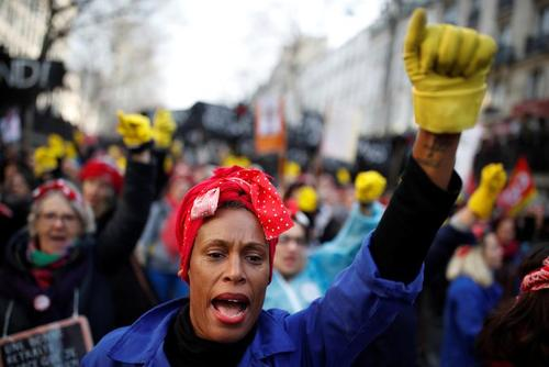 تظاهرات فرانسویها علیه افزایش سن بازنشستگی/ پاریس/ رویترز