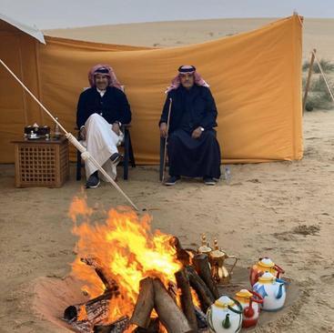 وزیر خارجه اسبق قطر  در صحرای این کشور