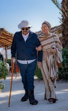 امیر سابق قطر (شیخ حمد بن خلیفة آل ثانی) و همسرش موزه در سفر به اروپا
