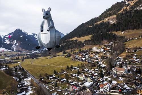 جشنواره سالانه بالنهای هوای گرم در سوییس/ EPA