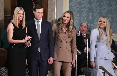 دختران، داماد و عروس ترامپ در نطق سالانه پدرشان در کنگره آمریکا/ رویترز