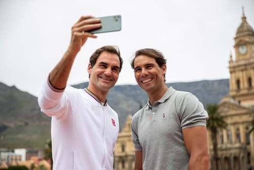 سلفی گرفتن دو تنیسور مشهور جهان
