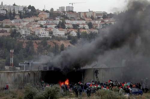 تظاهرات فلسطینیها علیه طرح موسوم به