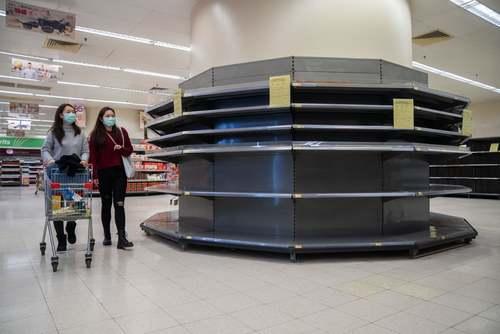 فروشگاههای تقریبا خالی شهر هنگکنگ/ SOPA