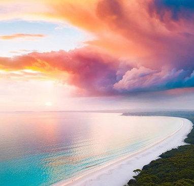 آسمان رنگارنگ و شگفت انگیز استرالیا