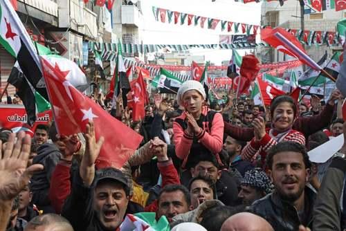 گردهمایی مخالفان حکومت سوریه در شهر