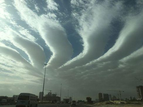 آسمان ابری شهر دوبی/ گلف نیوز