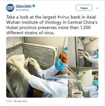 عکسی که پیشتر موسسه ویروس شناسی ووهان به خاطر بازتاب گسترده جهانی از سایت خود حذف کرده بود.این یخچال کهنه محل نگهداری ویروس های خطرناک در این آزمایشگاه بوده است.