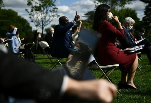 خبرنگاران در نشست خبری روزانه ترامپ در کاخ سفید/ خبرگزاری فرانسه