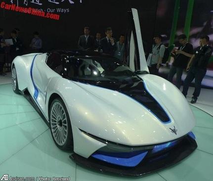 آرک فاکس-7 سوپر اسپرت الکتریکی گروه خودروسازی بایک چین در نمایشگاه خودروی گوانگژو