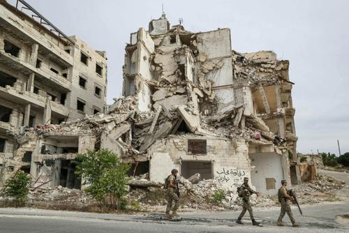 گشتزنی نیروهای ترکیه در ادلب سوریه/ خبرگزاری فرانسه