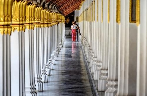 بازگشایی اماکن توریستی شهر بانکوک تایلند به روی گردشگران/ خبرگزاری فرانسه