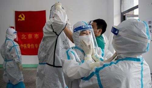 یک مرکز تست کرونا در شهر پکن چین/ خبرگزاری فرانسه