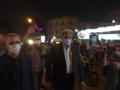 حضور پیروز حناچی، شهردار پایتخت در محل انفجار