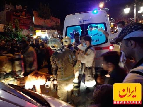 امدادرسانی اورژانس و آتش نشانی به مصدومان