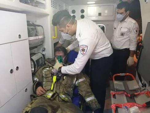 نجات مصدومان حادثه مرکز درمانی سینا