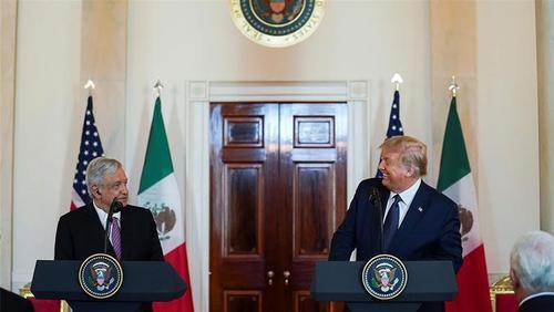 نشست خبری دیروز (چهارشنبه) ترامپ و همتای مکزیکی در کاخ سفید/ رویترز