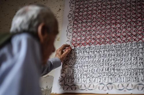 تقویم دیواری پیرمرد فلسطینی در نوار غزه برای دیدار دوباره پسرش که در زندان اسراییل است. پسر این پیرمرد به تحمل 17 سال زندان محکوم شده است و پدر پیرش هر روز صبح پس از برخاستن از خواب یک ضربدر روی خانههای این گاهشمار دیواری میزند./ خبرگزاری آناتولی