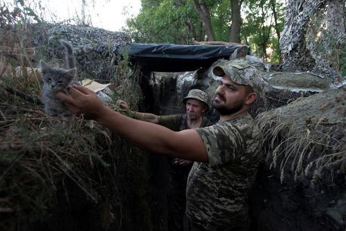 مواضع و سنگربندی نیروهای ارتش اوکراین در منطقه جدایی طلب
