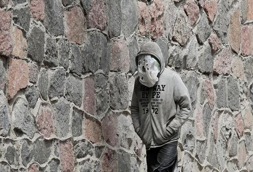یک مرد اوکراینی در شهر